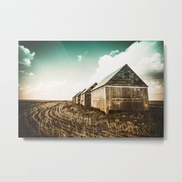 The Barn In The Field Metal Print