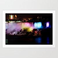 Niagara Falls Night Art Print