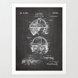 Welding Goggles Patent - Welder Art - Black Chalkboard Art Print