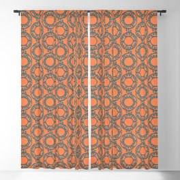 Scrolled Ringed Ikat – Koi Colonial Blue Blackout Curtain