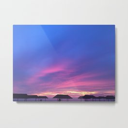 Blue & Purple Sunset Metal Print
