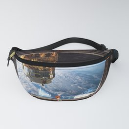 Space Station Window Overlooking Planet Earth Fanny Pack