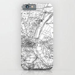 Vintage Paris Map iPhone Case