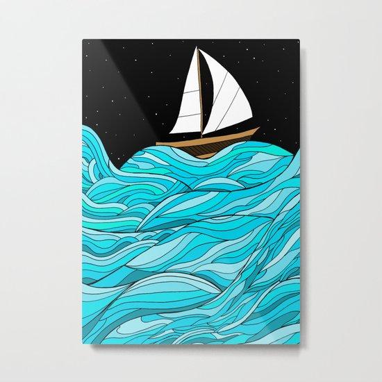 Night Sea Metal Print