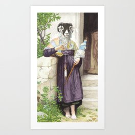 The Sheep Spinner Art Print