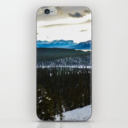 On route to Brule Alberta, Canada iPhone Skin