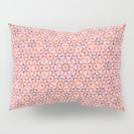Pink Purple and Green Stripes and Triangle Pattern Pillow Sham
