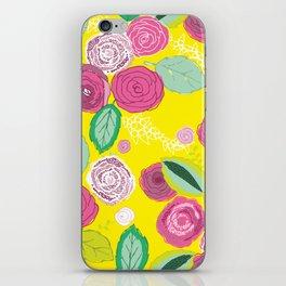 Belles Fleurs - roses bright pattern iPhone Skin