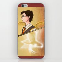 harry potter iPhone & iPod Skins featuring Harry Potter by Imaginative Ink