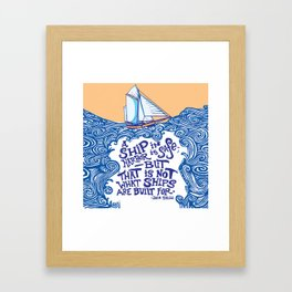 To Be at Sea Framed Art Print