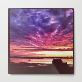 Sunset in Winthrop Metal Print