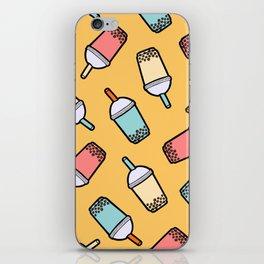 Bubble Tea Pattern iPhone Skin