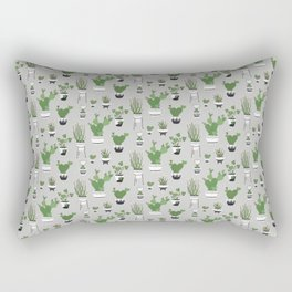 Cactus Love (in gray) Rectangular Pillow