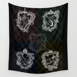 Animal shields Wall Tapestry