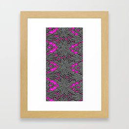 Electro Lace Framed Art Print