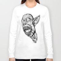 vampire Long Sleeve T-shirts featuring VAMPIRE  by B. STIEGLER