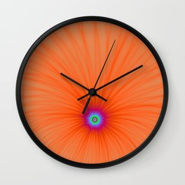 Tangerine Color Explosion Wall Clock