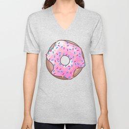 Pink Strawberry Donut Unisex V-Neck