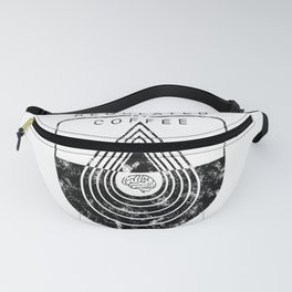 Caffeine on the Brain // Regulated by Coffee Espresso Drip Distressed Living Graphic Design Fanny Pack