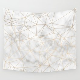 Marble Gold Geometric Texture Wall Tapestry