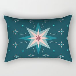 North Star | Midnight Blue Sky Rectangular Pillow