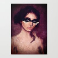 raven Canvas Prints featuring Raven by SannArt