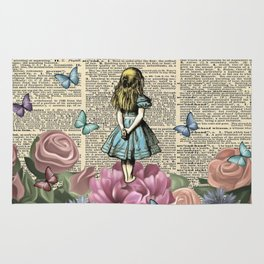 Alice In Wonderland Magical Garden Rug
