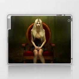 Dark wonderland Alice on a red chair Laptop & iPad Skin