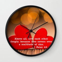 1 Peter 4:8 Wall Clock