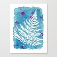 fern Canvas Prints featuring Fern  by messy bed studio