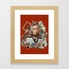 Billie Eilish Graphic Artwork Framed Art Print