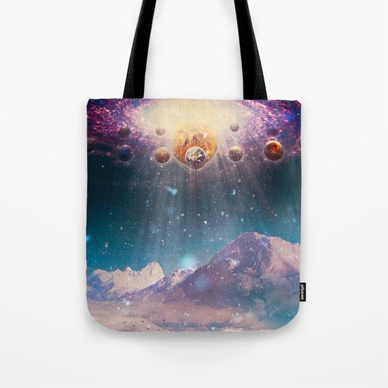 Descending worlds Tote Bag