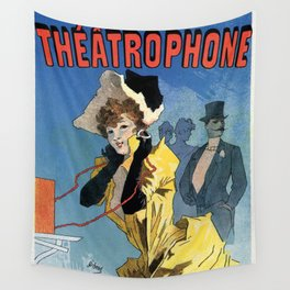 1896 Theatrophone by Jules Chéret Wall Tapestry