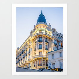 Carlton with sunset light Art Print