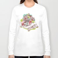 the neighbourhood Long Sleeve T-shirts featuring Tur-Town by Yoshi Andrian