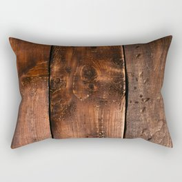 Natural Wood Boards Rectangular Pillow
