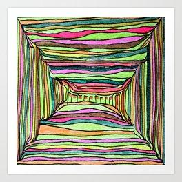 Boxy Bright Art Print