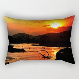 African River Sunset Rectangular Pillow