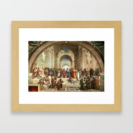 School Of Athens Painting Framed Art Print