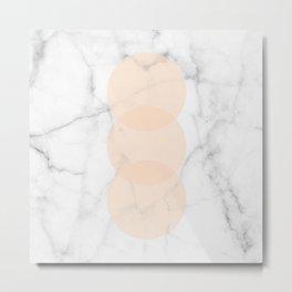 Marble Scandinavian Design Geometric Circle Metal Print