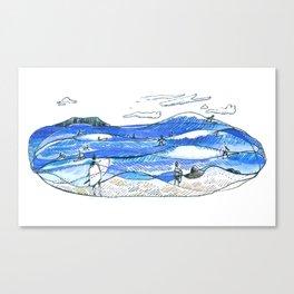 Party Wave Canvas Print