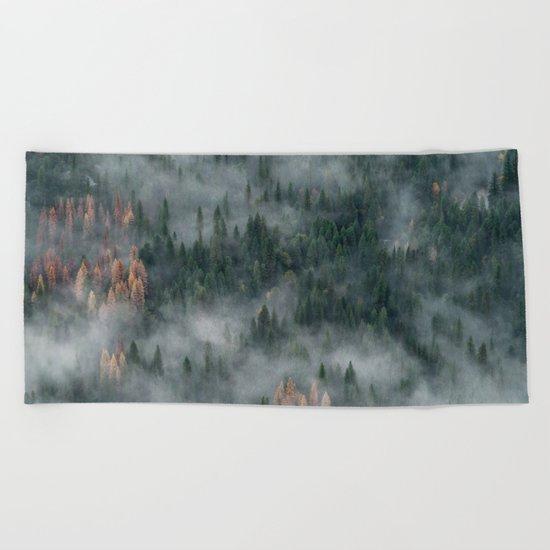 Woods landscape Beach Towel