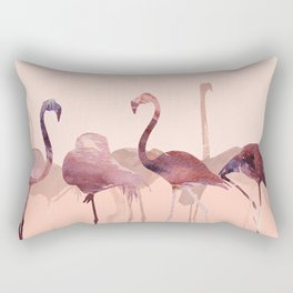 Summer Flamingos Rectangular Pillow
