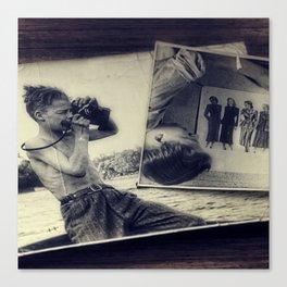 Vintage photographer Canvas Print