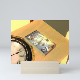 Liquid clock and art of fart Mini Art Print