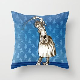 Second Challenger of the Ladies' Fencing Championship Throw Pillow