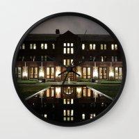 will graham Wall Clocks featuring Graham by Raffy Joseph Padua