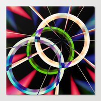circles Canvas Prints featuring circles by haroulita