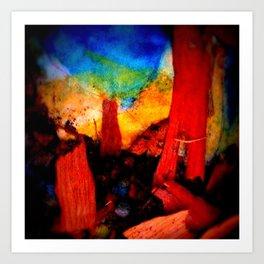 Naked Circus Art Print