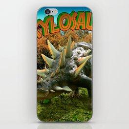 Ankylosaurus Dinosaur Park Vegetation and  Volcano iPhone Skin